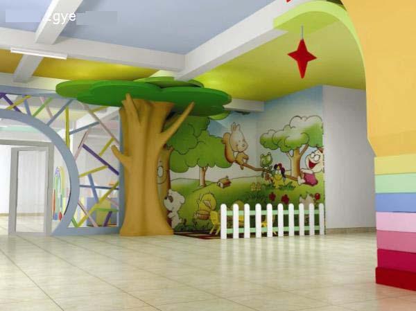 好看的幼儿园教室环境布置图片:可爱的童真(4)