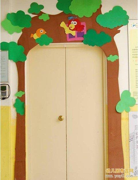 幼儿园小班门窗装饰:小鸟的家