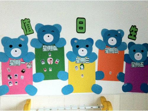 幼儿园中班墙面装扮:值日生_幼儿园布置网