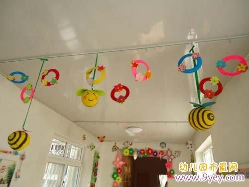 幼儿园中班教室吊饰布置:小蜜蜂