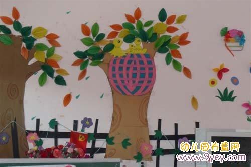 幼儿园墙面装饰 动物数字2