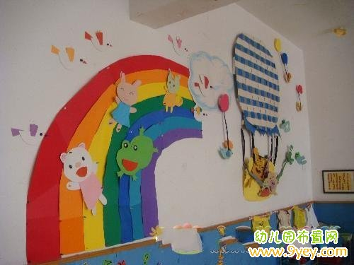幼儿园活动室墙面卡通人物布置