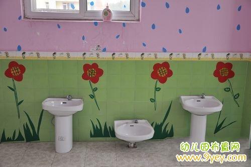 幼儿园洗手间洗手台设计   幼儿园卫生间布置图片   主页