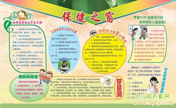 幼儿园卫生与健康宣传栏:保健之窗