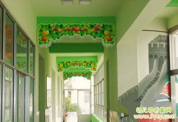 幼儿园走廊吊顶设计:苹果乐园