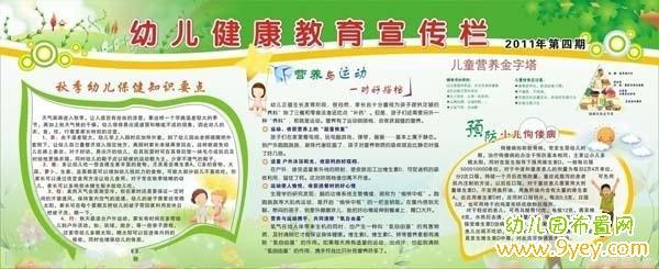 幼儿园健康教育宣传栏设计