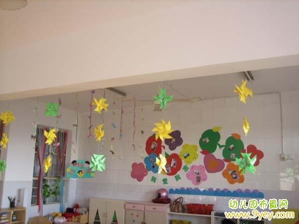 幼儿园小班教室布置吊饰   创意幼儿墙艺设计   童画艺术幼儿