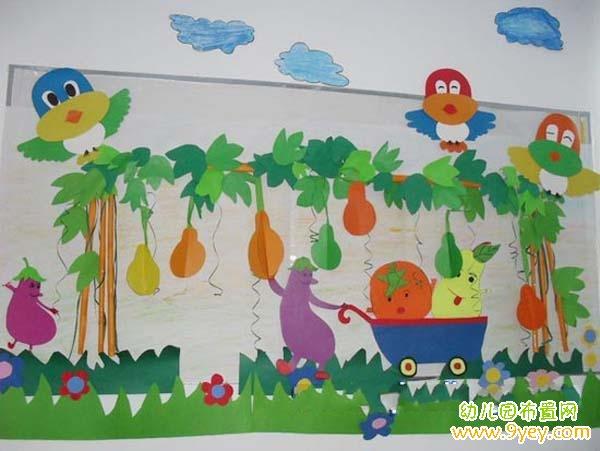 幼儿园中班漂亮的夏天主题墙布置