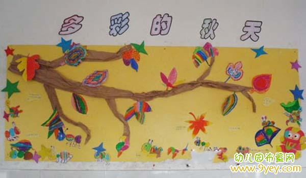 幼儿园秋天主题宣传板报布置