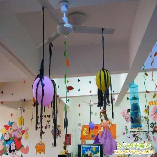 幼儿园大班万圣节教室大门布置图片_幼儿园布置网