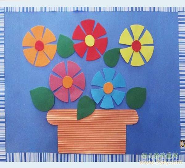 幼儿园手工制作图片:漂亮的花