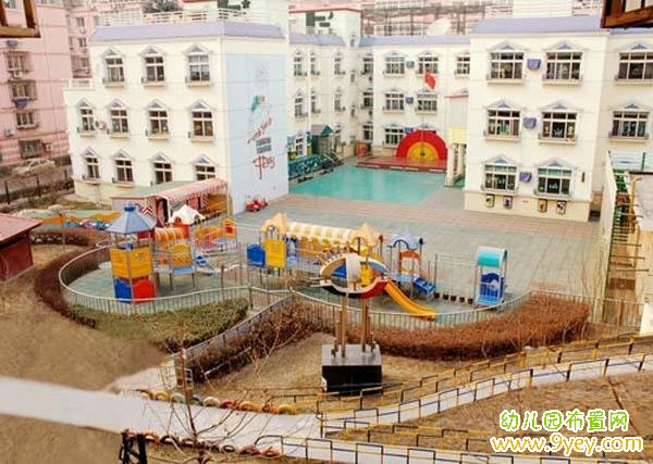 幼儿园户外操场整体环境鸟瞰图