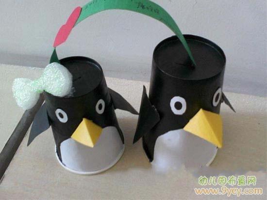 幼儿废旧物品手工:企鹅