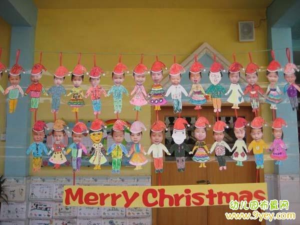 幼儿园大班圣诞节布置:圣诞小人吊饰