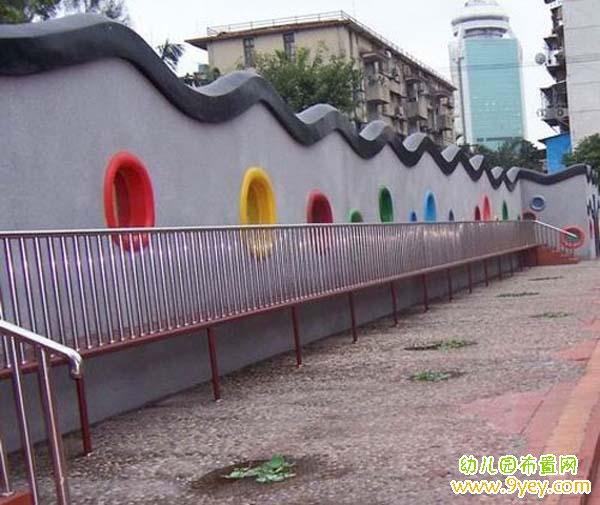 幼儿园室外围墙设计图片_幼儿园布置网