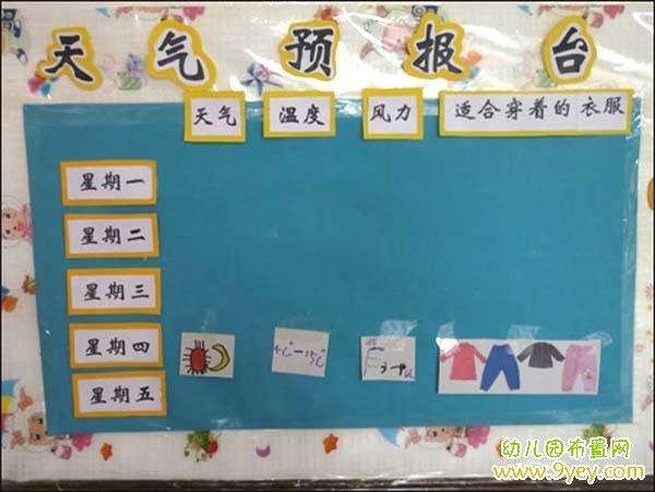 幼儿园大班天气预报台布置