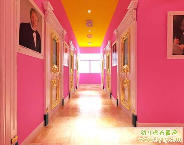 幼儿园欧式风格的楼道环境装修设计_幼儿园布置网