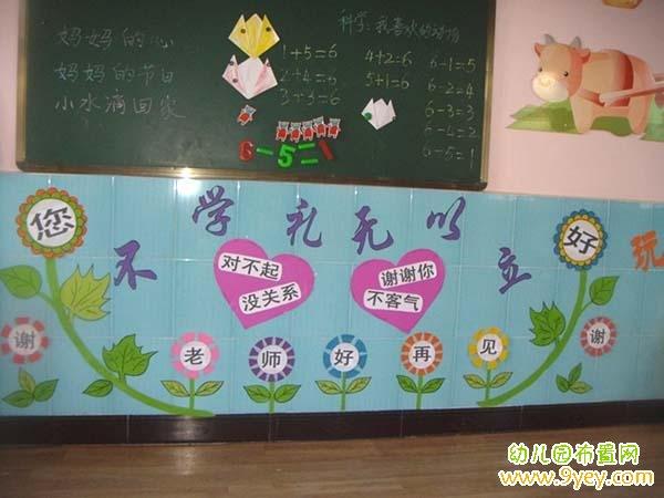 幼儿园文明礼仪环境布置图片