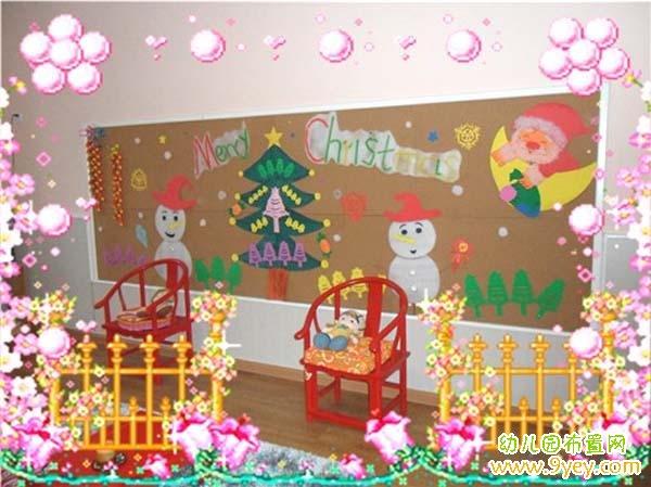 幼儿园大班圣诞节主题墙饰设计图片