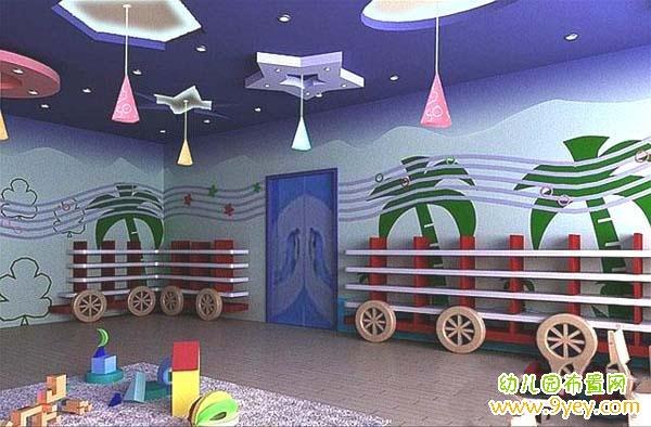 幼儿园走廊环境布置吊饰图片 设计本装修效果图